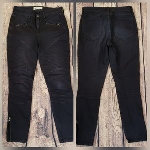 Faded Black Jeans true skinny denim